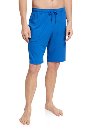 Derek Rose Men's Basel 8 Solid Jersey Lounge Shorts