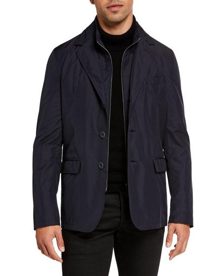 Herno Men's Techno-Weave Three-Button Jacket