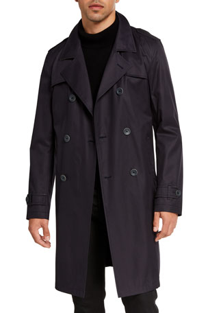 Herno Men's Tech-Stretch Raincoat