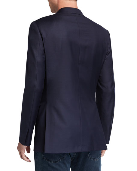 Image 2 of 3: Brioni Men's Solid Virgin Wool Blazer