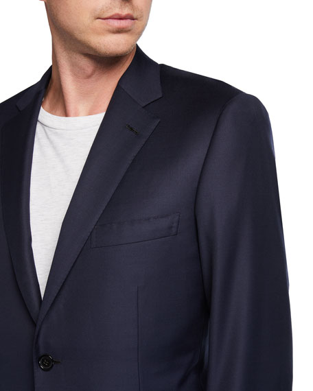 Image 3 of 3: Brioni Men's Solid Virgin Wool Blazer