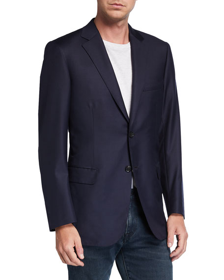 Image 1 of 3: Brioni Men's Solid Virgin Wool Blazer