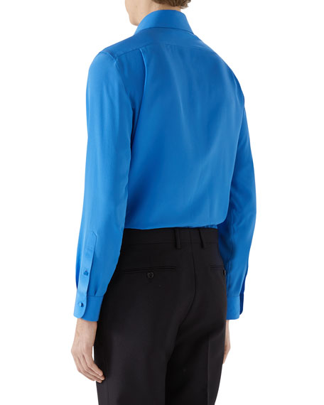 Image 2 of 2: Gucci Men's Silk Crepe Sport Shirt