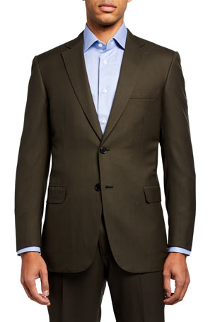 Brioni Men's Solid Twill Two-Piece Suit