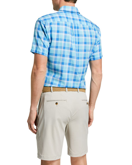 Image 2 of 2: Peter Millar Men's La Roche Plaid Sport Shirt