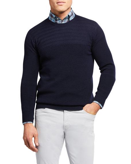 Peter Millar Men's Marina Multi-Stitch Crewneck Sweater