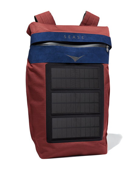 Image 2 of 4: Sease Men's MISSION Backpack with Solar USB Charger