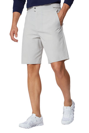 Sease Men's Bonded Stretch-Nylon Comfort Shorts