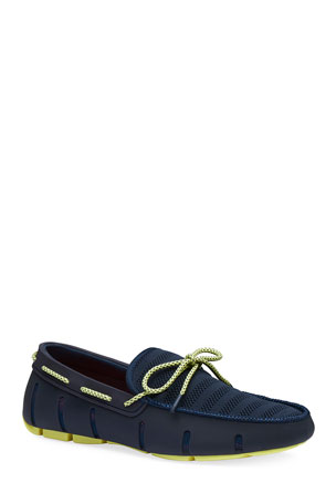 Swims Men's Synthetic Knit/Rubber Lace Driver Loafers