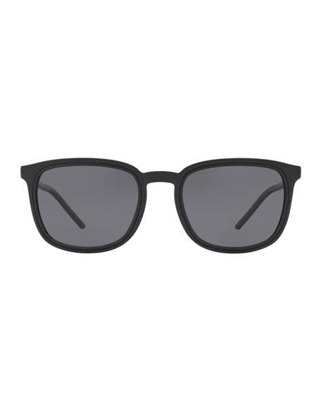Dolce & Gabbana Men's Square Metal-Trim Propionate Sunglasses
