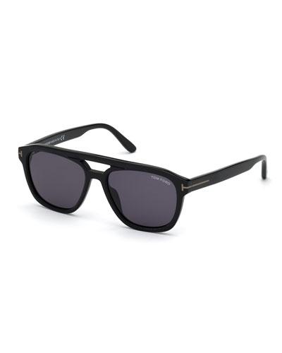 Men's Gerrard Square Aviator Acetate Sunglasses