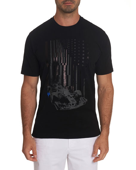 Robert Graham Men's Raise Your Flag Graphic Crewneck T-Shirt