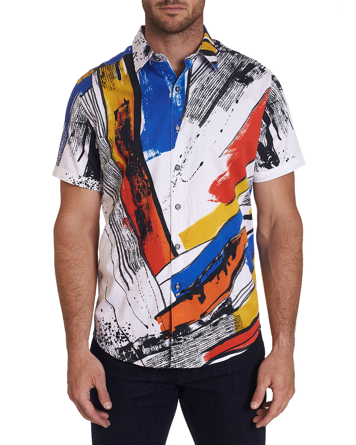 Robert Graham Men's Monaco Patterned Short-Sleeve Sport Shirt