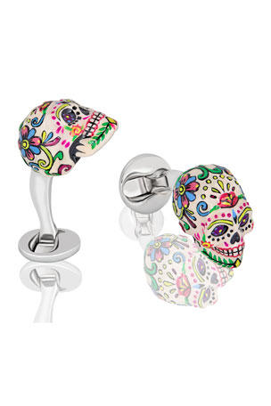 Fils Unique Sweet Yorick Mexican Skull Cufflinks