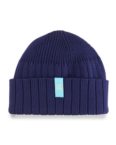 Men's Ribbed Cotton Beanie Hat