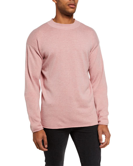 Image 2 of 3: Men's Solid Wool-Blend Knit Sweater