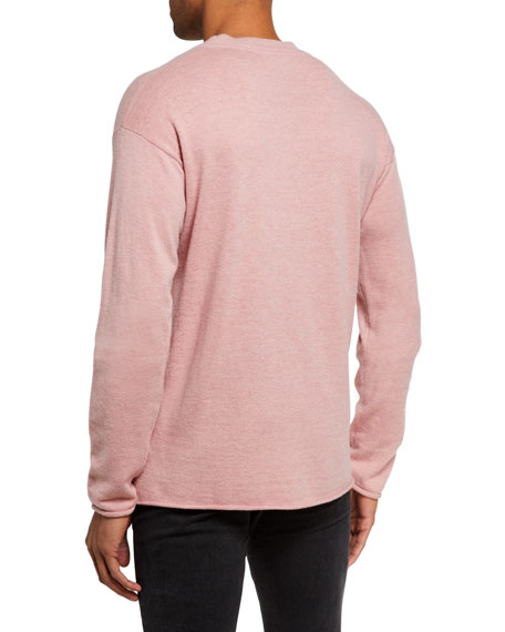 Image 3 of 3: Men's Solid Wool-Blend Knit Sweater