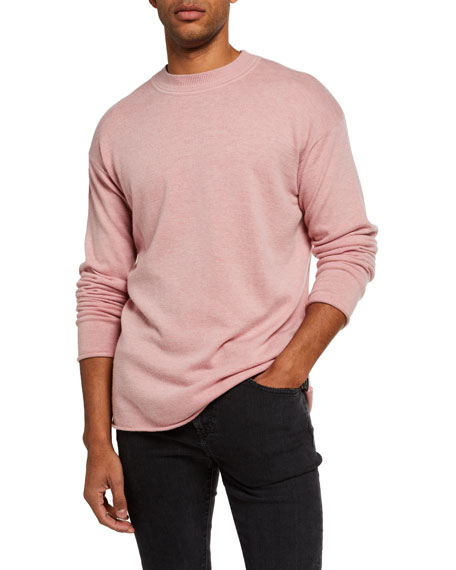 Image 1 of 3: Men's Solid Wool-Blend Knit Sweater