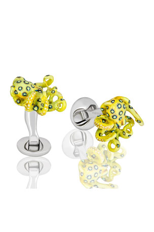 Fils Unique Glow in the Dark Sixteen Legs Octopus Cufflinks