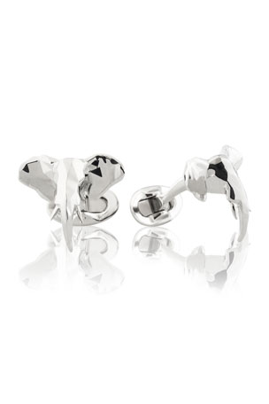 Fils Unique Ziggy Faceted Elephant Cufflinks