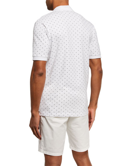 Image 2 of 2: Scotch & Soda Men's Pique Allover-Print Polo Shirt