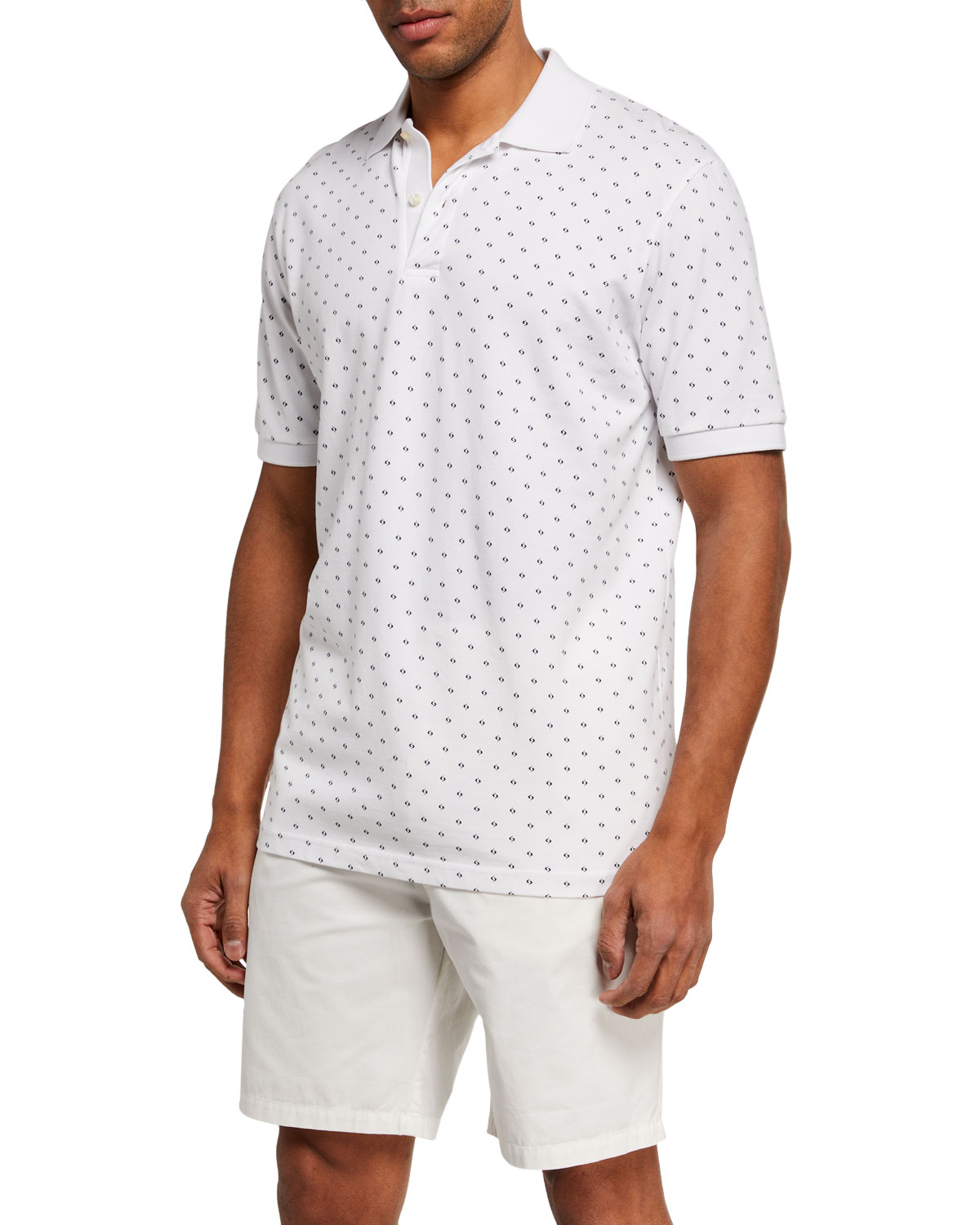 Scotch & Soda Men's Pique Allover-Print Polo Shirt