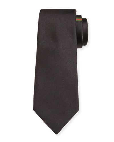 Silk Tie with Interlocking G Web