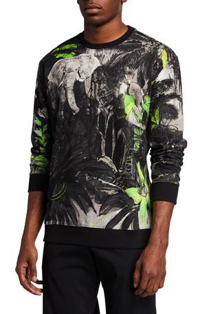 Valentino Men's Mural Jungle Sweatshirt