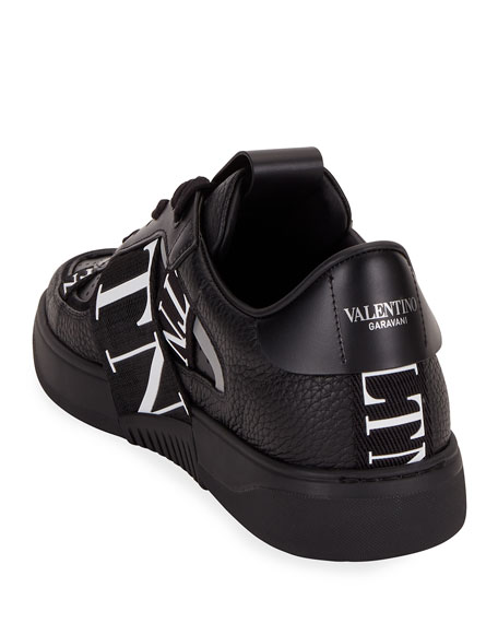 Image 4 of 4: Valentino Men's VLTN-Banded Low-Top Sneakers