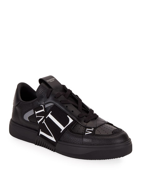 Image 1 of 4: Valentino Men's VLTN-Banded Low-Top Sneakers