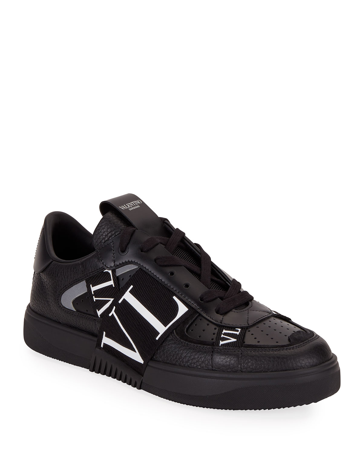 Valentino Men's VLTN-Banded Low-Top Sneakers