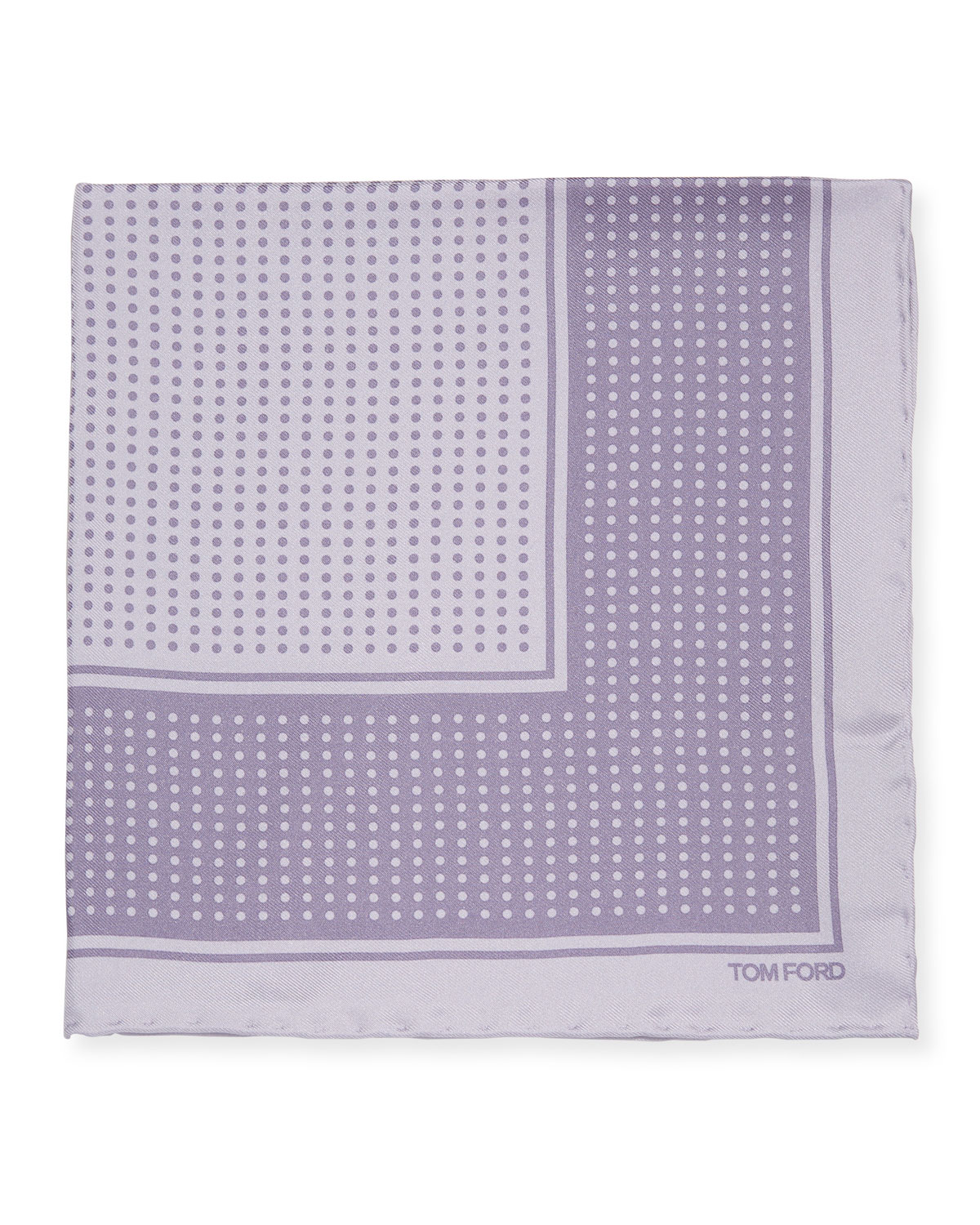 TOM FORD Polka Dot Silk Pocket Square