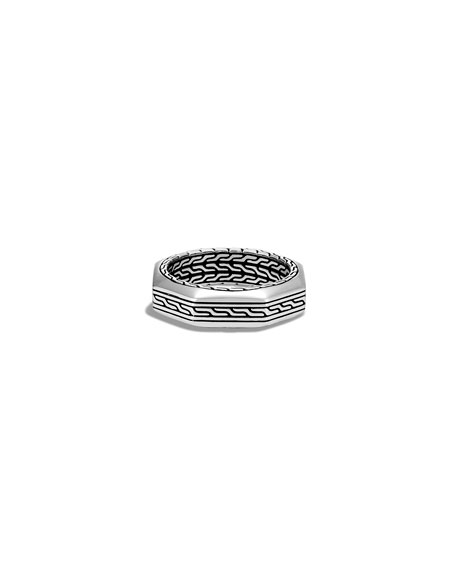 Image 2 of 2: John Hardy Men's Classic Chain Silver Band Ring, Size 9-10
