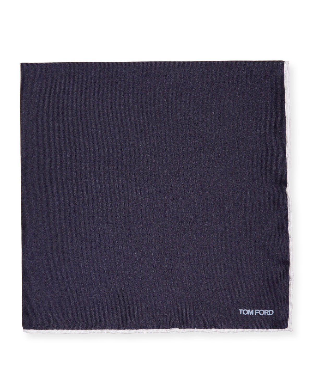TOM FORD Men's Solid Silk Pocket Square