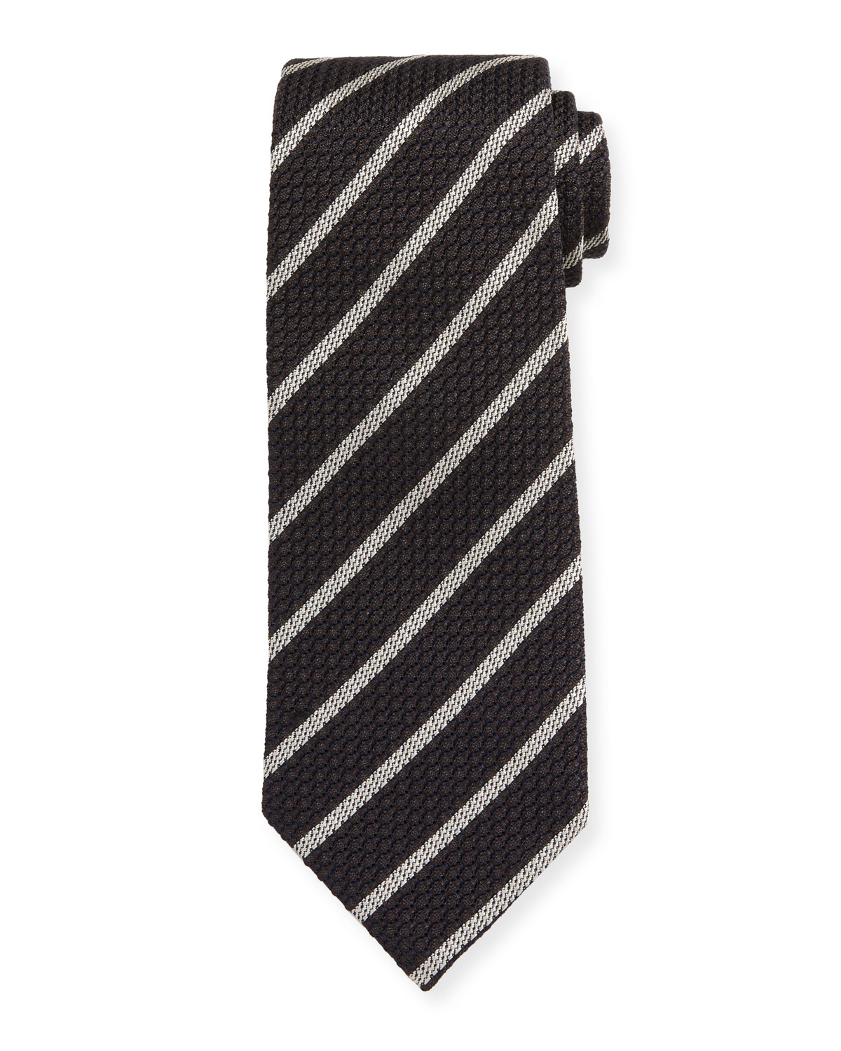 TOM FORD Small Stripe Silk Tie
