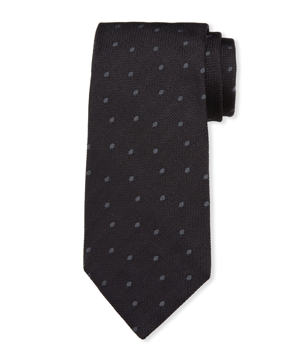 TOM FORD Men's Tonal Dot Silk Tie