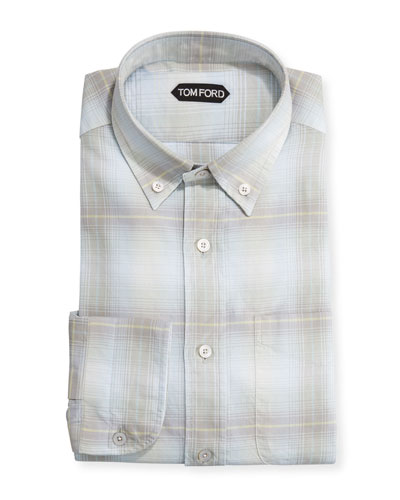 Men's Pastel Check Dress Shirt