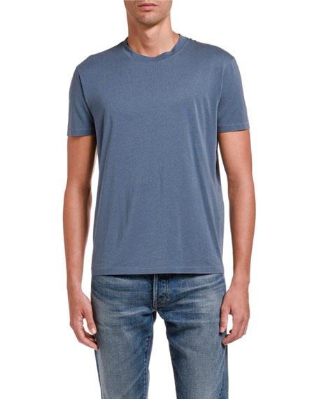 Image 1 of 2: TOM FORD Men's Solid Jersey T-Shirt