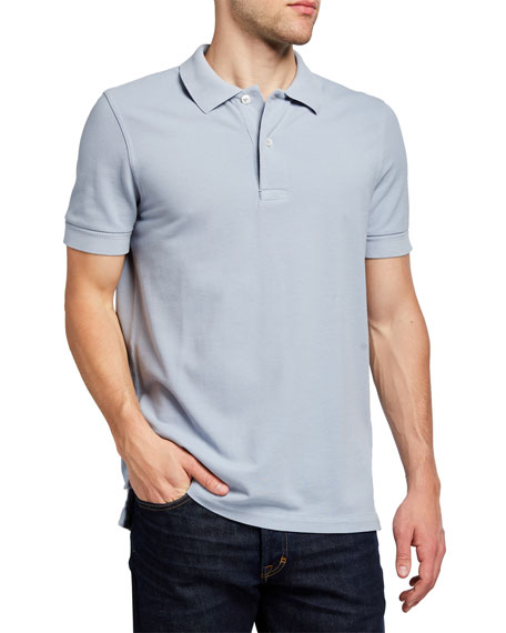 Image 1 of 2: TOM FORD Men's Garment-Dyed Tennis Pique Polo Shirt