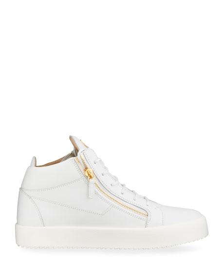 Giuseppe Zanotti Men's May London Leather Zip Sneakers