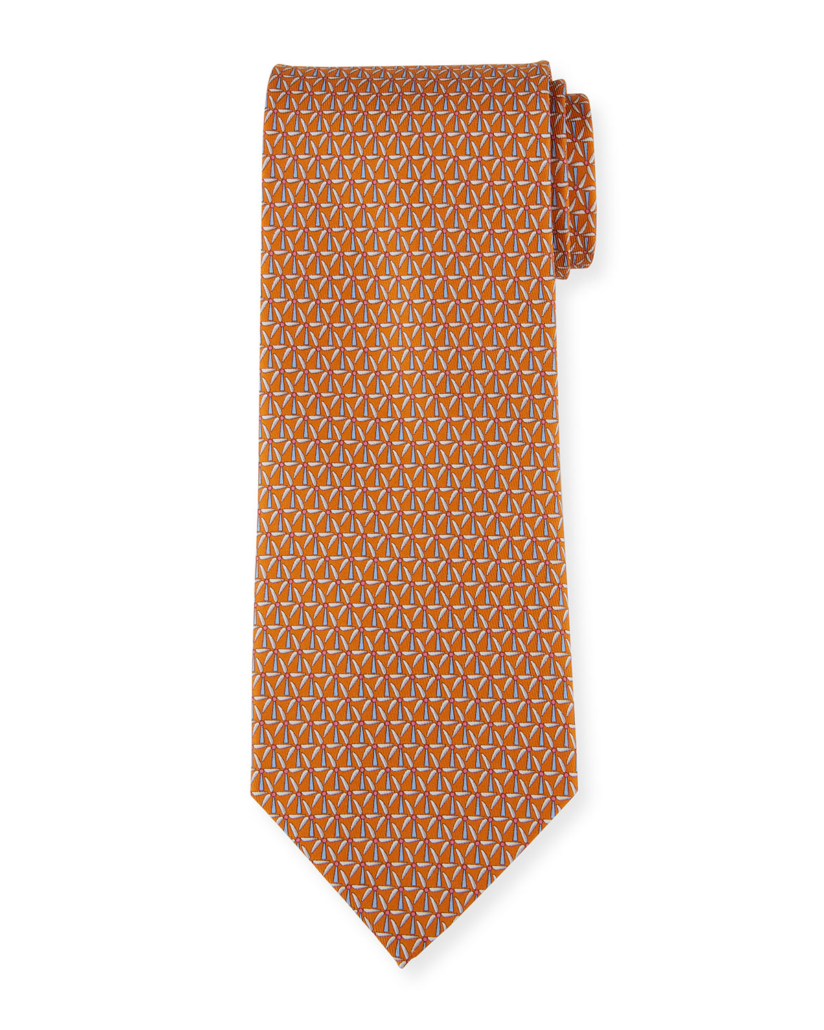 Salvatore Ferragamo Men's 4 Molina Patterned Silk Tie
