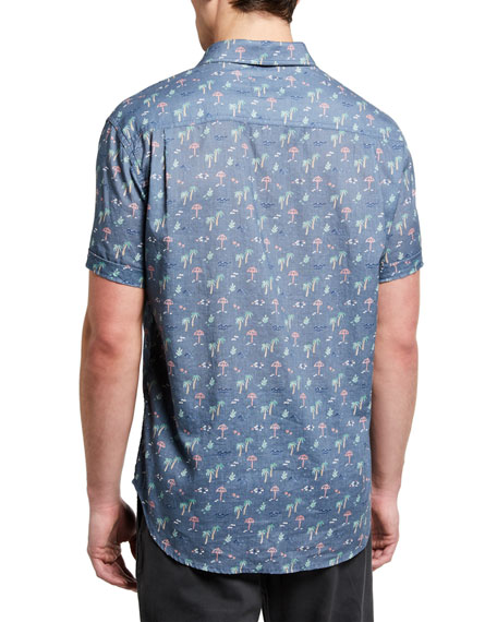Image 2 of 2: Rails Men's Carson Printed Short-Sleeve Sport Shirt