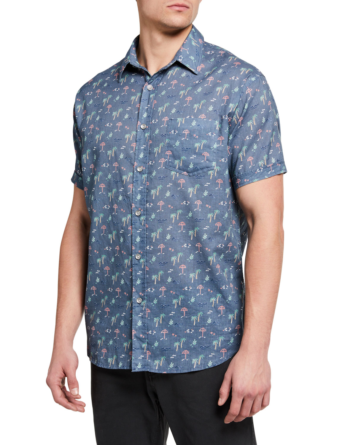 Rails Men's Carson Printed Short-Sleeve Sport Shirt