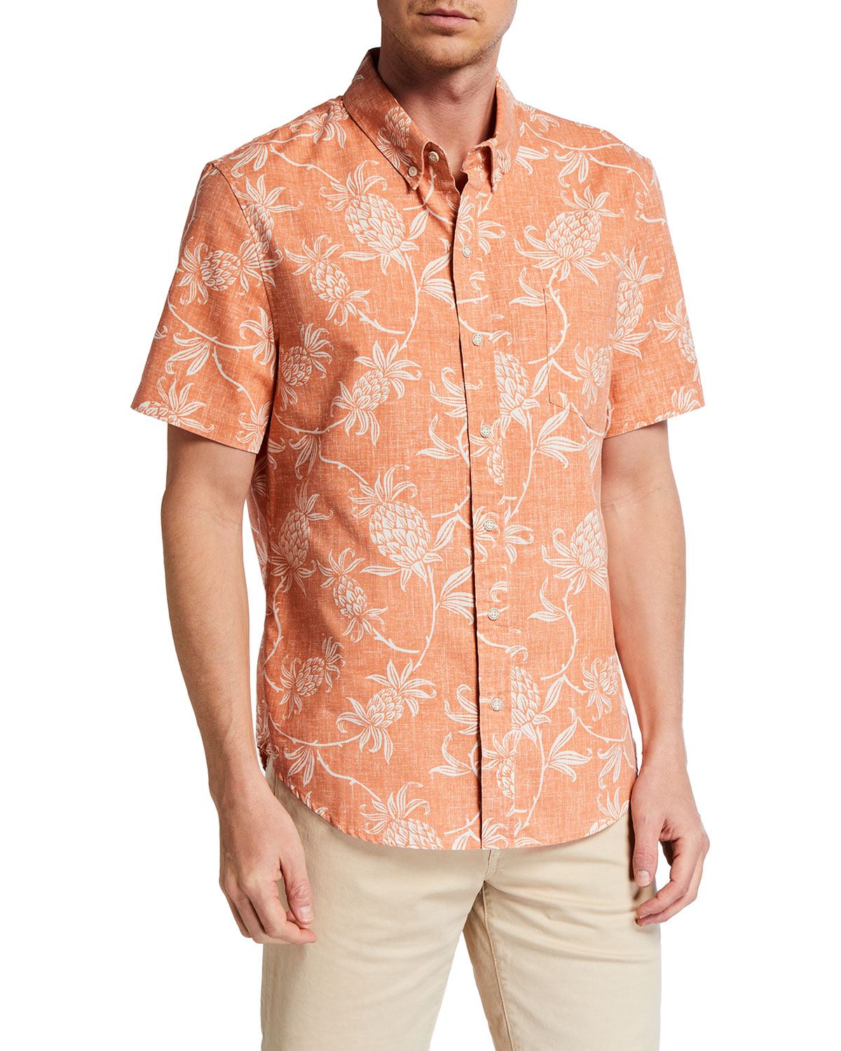 Reyn Spooner Men's Aloha Welcome Tropical-Print Sport Shirt