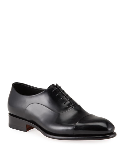 Men's Isaac Cap-Toe Leather Oxford Shoes
