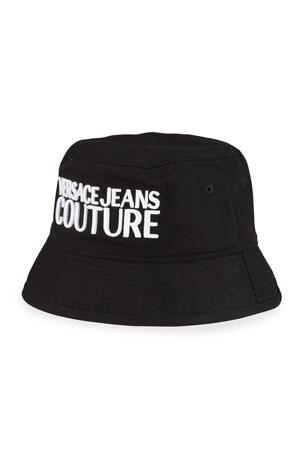 Versace Jeans Couture Men's Gabardine Logo Bucket Hat
