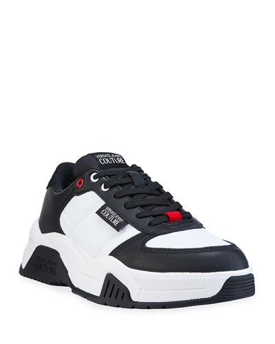 Men's Nylon/Leather Sneakers