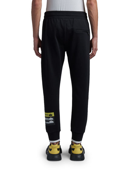 Dolce & Gabbana Men's Logo Tape Sweatpants