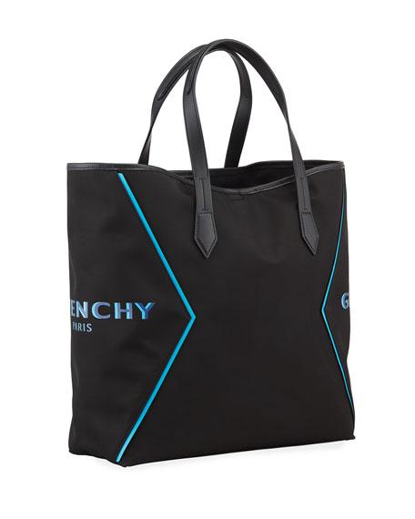 Givenchy Men's Nylon Logo-Print Tote Bag