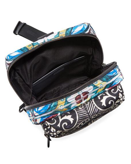 Dolce & Gabbana Men's Zaino Stampato Nylon Crossbody Backpack